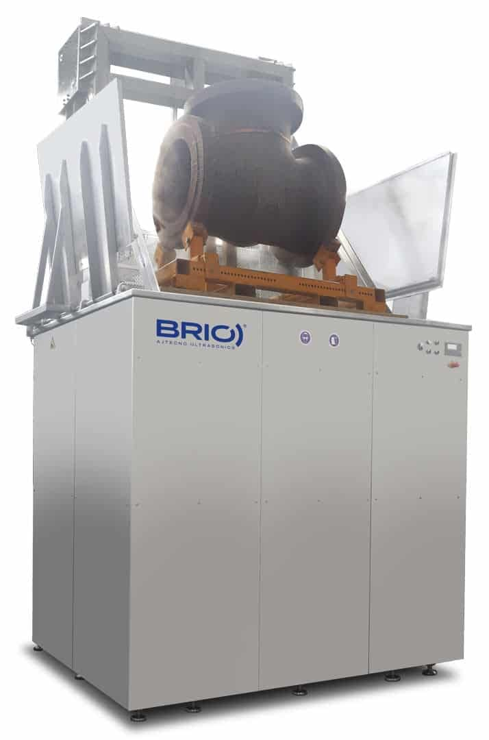 BRIO automatic ultrasonic cleaning machine for naval parts cleaning. 8000 liters.