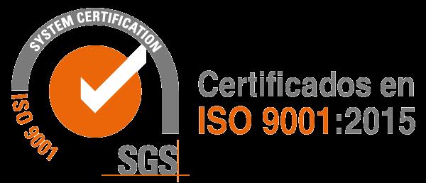 BRIO Ultrasonics Certificados en ISO 9001:2015 por SGS